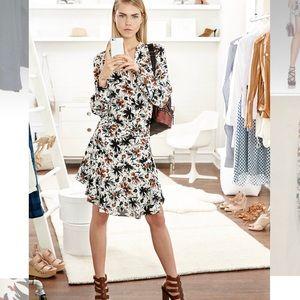 A.L.C. 'Way' Long-Sleeve Floral Silk Dress